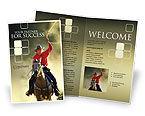 America: Cowboy Broschüren Vorlage #01588