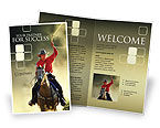 America: Cowboy Brochure Template #01588
