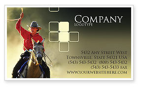 America: Cowboy Business Card Template #01588