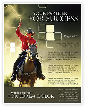 Cowboy Flyer Template, 01588, America — PoweredTemplate.com