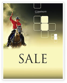 Cowboy Sale Poster Template, 01588, America — PoweredTemplate.com