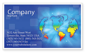Global: Continental Business Card Template #01593