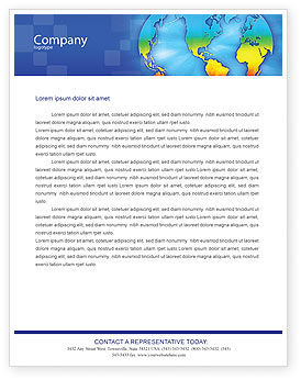 Continental Letterhead Template, 01593, Global — PoweredTemplate.com