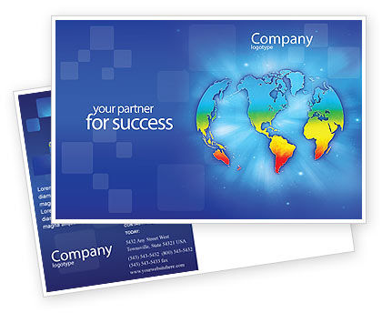 Global: Continental Postcard Template #01593