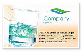 Food & Beverage: Drink Business Card Template #01594