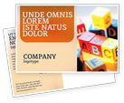 Education & Training: ABC Educational Cubes Postcard Template #01600