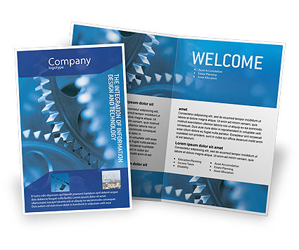 Utilities/Industrial: Mechanism Brochure Template #01604