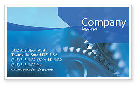 Utilities/Industrial: Mechanism Business Card Template #01604