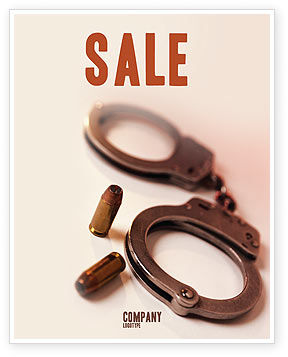 Breach of the Law Sale Poster Template, 01605, Legal — PoweredTemplate.com