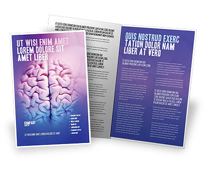 Brain Brochure Template, 01606, Medical — PoweredTemplate.com