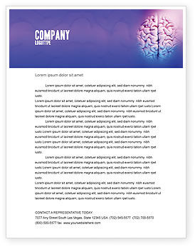 Brain Letterhead Template, 01606, Medical — PoweredTemplate.com