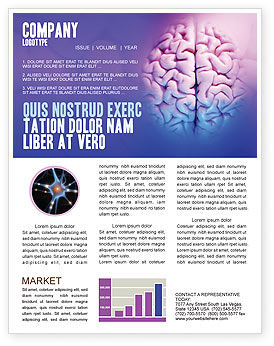 Brain Newsletter Template, 01606, Medical — PoweredTemplate.com