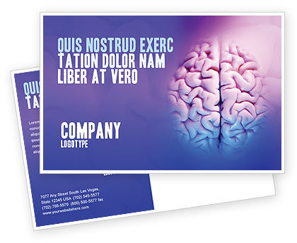 Medical: Brain Postcard Template #01606