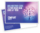 Medical: Brain Postcard Template #01606