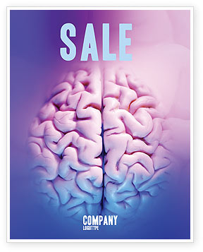 Brain Sale Poster Template, 01606, Medical — PoweredTemplate.com