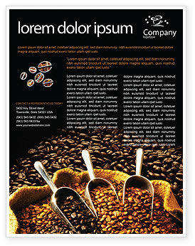 Food & Beverage: Coffee Beans In A Bag Flyer Template #01613