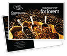 Food & Beverage: Coffee Beans In A Bag Postcard Template #01613