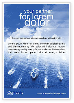 Military: Marine Advertentie Template #01614