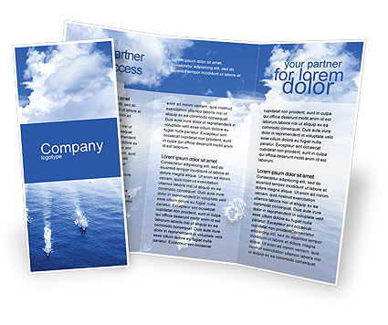Navy Brochure Template, 01614, Military — PoweredTemplate.com
