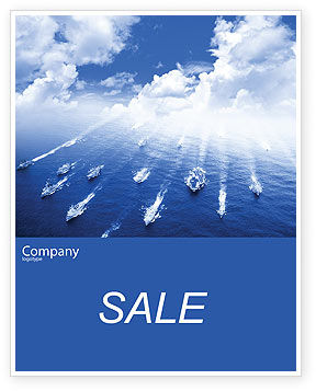 Navy Sale Poster Template, 01614, Military — PoweredTemplate.com