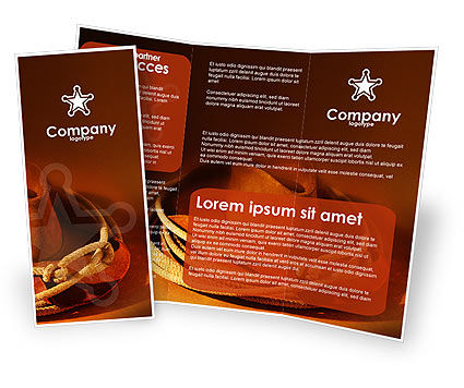 Cowboy Hat Brochure Template, 01616, America — PoweredTemplate.com