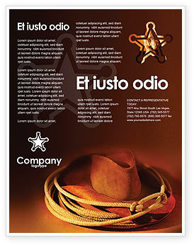 Cowboy Hat Flyer Template, 01616, America — PoweredTemplate.com