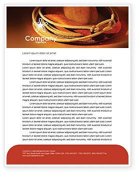 Cowboy Hat Letterhead Template, 01616, America — PoweredTemplate.com
