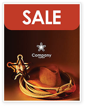 Cowboy Hat Sale Poster Template, 01616, America — PoweredTemplate.com