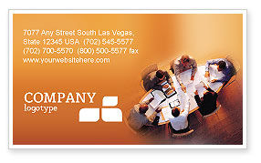 Team Work Business Card Template, 01624, Business — PoweredTemplate.com