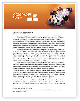 Team Work Letterhead Template, 01624, Business — PoweredTemplate.com