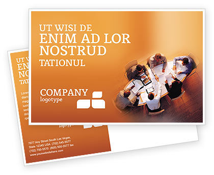 Team Work Postcard Template