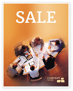 Business: Team Work Sale Poster Template #01624