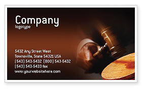 Legal: Legal Business Card Template #01625