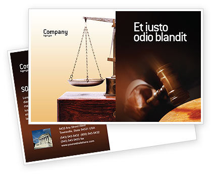 Legal: Legal Postcard Template #01625