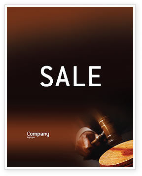 Legal: Legal Sale Poster Template #01625