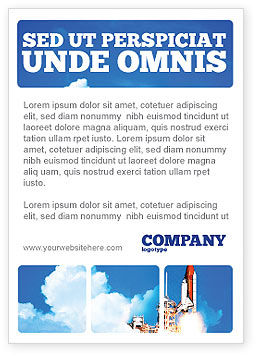 Construction: Space Research Ad Template #01634