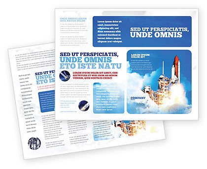 Construction: Space Research Brochure Template #01634