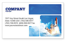 Construction: Space Research Business Card Template #01634