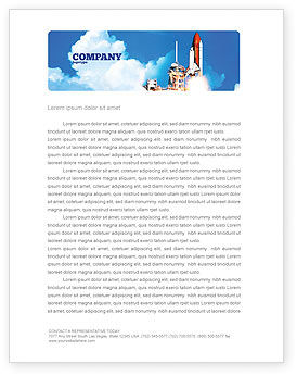 Space Research Letterhead Template, 01634, Construction — PoweredTemplate.com