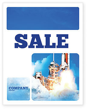 Space Research Sale Poster Template, 01634, Construction — PoweredTemplate.com