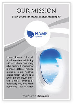 Airplane Ad Template, 01635, Cars/Transportation — PoweredTemplate.com