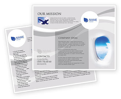 Cars/Transportation: Airplane Brochure Template #01635