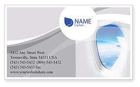 Airplane Business Card Template, 01635, Cars/Transportation — PoweredTemplate.com