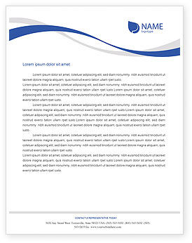 Airplane Letterhead Template, Layout for Microsoft Word, Adobe