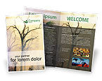 Nature & Environment: Forest Fire Brochure Template #01636