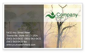 Nature & Environment: Forest Fire Business Card Template #01636