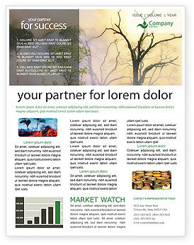 Nature & Environment: Forest Fire Newsletter Template #01636