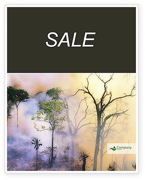 Forest Fire Sale Poster Template