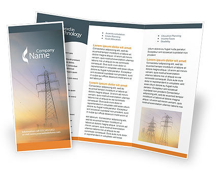 Power Line Brochure Template, 01638, Utilities/Industrial — PoweredTemplate.com
