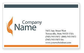Utilities/Industrial: Power Line Business Card Template #01638